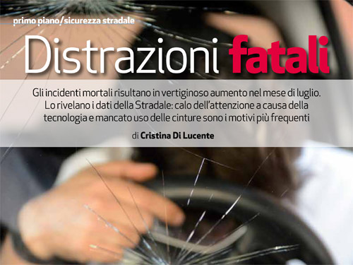 Incidenti mortali, il report di Polizia Moderna