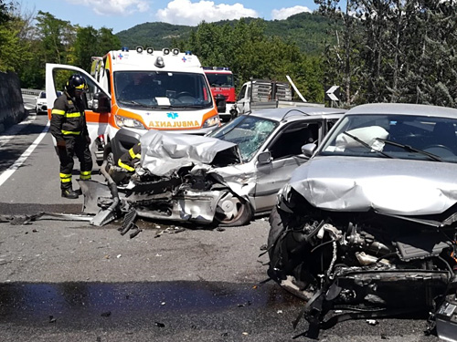 L'incidente di poco fa