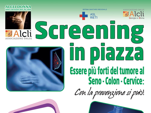 Alcli, parte lo screening in piazza
