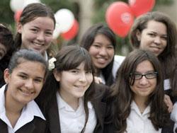 Studenti della Mayfield Senior School